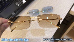 Clip thực tế 2 màu kính râm cận chemi : Brown 50G và Blue 30G hai lai cực đẹp